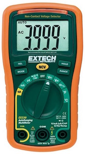 The Extech EX330 digital multimeter