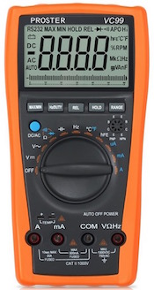 The Proster VC99 Digital Multimeter