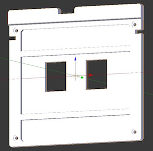 Button panel modelled in Blender