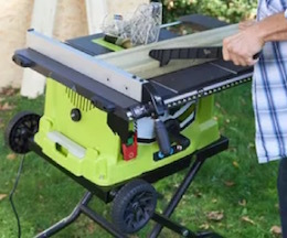 Image of the table saw, the Ryobi RTS1800EF