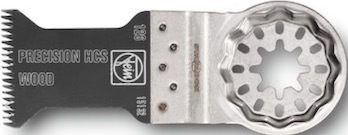 Oscillating tool wood saw blade